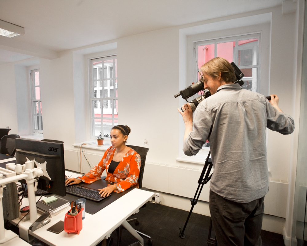 Filming, lights, production, PremFina, ITN, Project