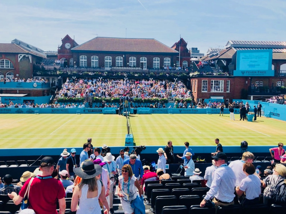 The stunning court at the West Kensington Club